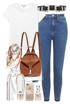 """Outfit for university"" by ferned on Polyvore featuring Topshop, Monki, B-Low the Belt, Forever New, Converse, Alexia Parmigiani, Casetify and Monica Vinader"
