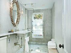 baths, showers, mirror, antlers, parks, bathrooms, homes, jenna lyon, marbl