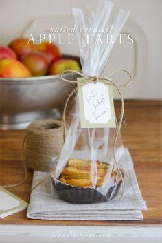 Salted Caramel Apple Tarts for Teachers Gift