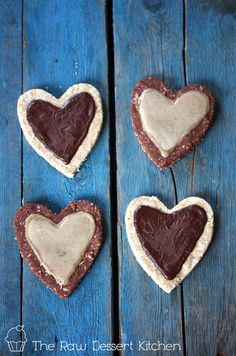 Valentine's Day Heart Cookies. Raw, vegan & nut free.     So good you won't believe they are healthy!