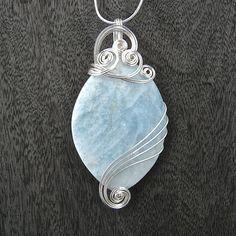 Aquamarine Wire Wrapped Pendant