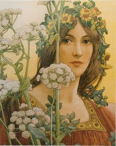 Elisabeth Sonrel 1874-1953  made portraits of women that have both a certain Pre-Raphaelite intensity and an affinity  to French symbolist painting. Her breakthrough came  at  the 1900 Paris Universal World Exposition.