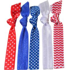 """Stars and Stripes Forever  Hair Tie """" Donation"""" 5 Pack"""