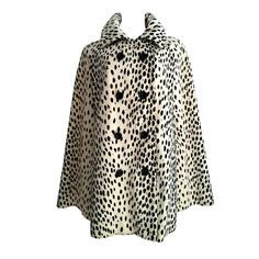 a cape would be ok too.... Leopard Print Cape 1960s