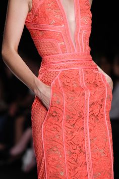 gorgeous coral lace dress!