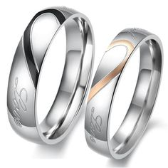 '10 Lovely Titanium Stainless Steel Couple Rings' is going up for auction at  5pm Sat, Dec 1 with a starting bid of $30.