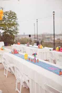 Fiesta themed reception, photo by Ivy Weddings http://ruffledblog.com/zilker-park-clubhouse-wedding #weddingideas #receptions