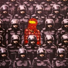 Banksy x Os Gemeos - a beautiful collaboration between two major street artists.