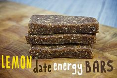 Lemon Date Energy Bars - shake cut bars in a bag of ground flax seed so they aren't sticky to hold