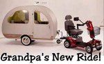old age, camper, trailer, senior living, camping, the great outdoors, travel, the road, scooter