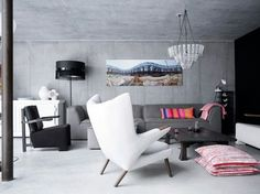 Modern living room with art. #Photography #Decoration #Style