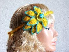Crochet Patterns Hair Accessories : Crochet Hair Accessories on Pinterest Wedding Hair Accessories ...