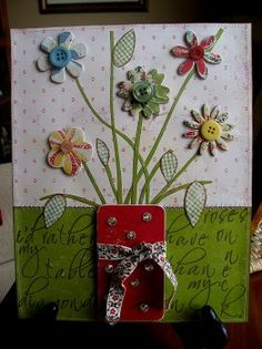 use scrapbook paper on canvas! - Very Cute!