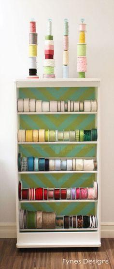 craft room organizing ideas.  Thank you Virginia Fynes!!!
