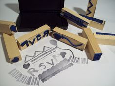 Make your own stamps with wood blocks and foam felt