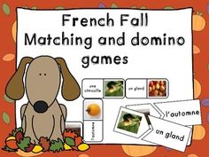 French fall matching and domino games