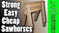 Super quick & easy sawhorses. Can make two from just five 2x4s at 8'.