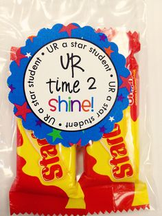 Treat bags to motivate and encourage students BEFORE a test!