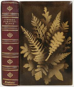 'Cowper's Poetical Works' Goat skin and red maple wood Binder unknown, 1874