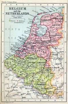 map of netherlands and belgium | Free Map of Belgium and the Netherlands 1932 from the Internet Map ...