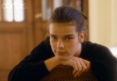 Young Princess Stephanie of Monaco at the royal Grimaldi family's French villa. Two months earlier, Princess Grace, formerly Grace Kelly, the American actress, wife of Prince Rainier and mother of Caroline, Albert, and Stephanie, died in a tragic automobile accident in Monaco.