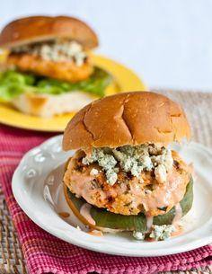 Buffalo Blue Cheese Chicken Burgers