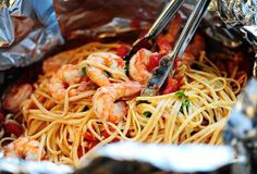 Sunday Supper: Shrimp Pasta in a Foil Package