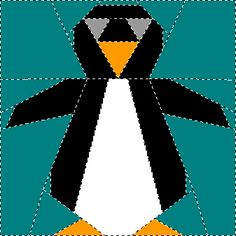Penguin paper piecing