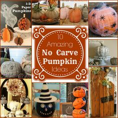 10 No Carve Pumpkin Ideas - Primp Your Pumpkin 2 Features! - Mom 4 Real