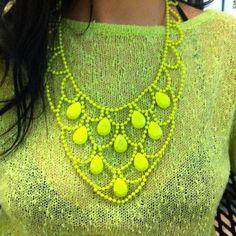 neon colored bib necklaces