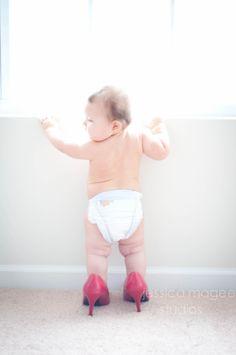 baby in heels