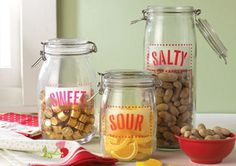 Martha Stewart Crafts Decorative Glass Kitchen Canisters