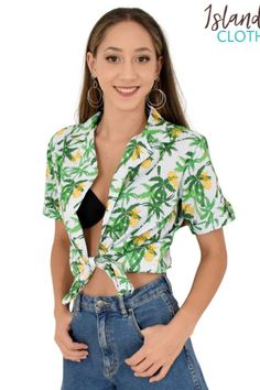 Ladies Hawaiian Shirt - Pineapple Party. Fresh and cool cotton shirt - perfect for a music festival, beach party, cruise, Aloha Friday or casual. Matching Shirts and Shorts available for Men and Kids. #luauparty #ladies #fashion #hensnight #cruisewear #partyshirts #bachelorette #springbreak #festivalfashion #festivalshirt #australiaday
