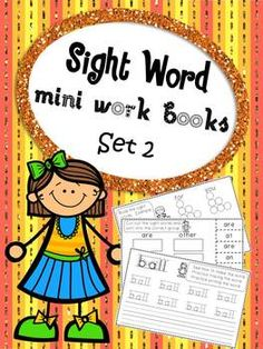 This mini work book set contains one book each for 20 different sight words and one final comprehensive work book.   Each book contains 5 pages of activities
