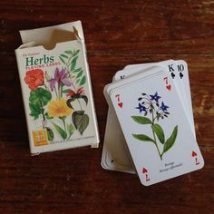 Giveaway for week of July 21 - 27, 2014: Heritage Playing Card Company's Herbs card deck! Win it at Herbal Roots zine: http://www.herbalrootszine.com/archive/2014/07/giveaway-monday-the-famous-herbs-playing-cards-deck/ #mondaygiveaways #herbalrootszine
