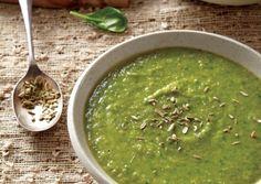 Split Pea Fennel Spinach Soup #vegan