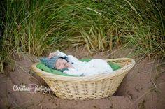 Newborn beach session