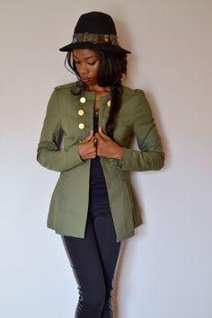 love the green coat