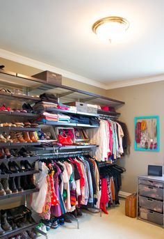 Convert an extra bedroom into a delux walk in closet.