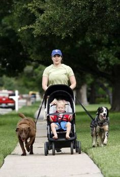 This mom keeps her body in shape through stroller jogging and gym classes.