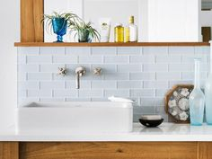Are you cut out for glass block tiles? They are a little trickier than you might think. #hgtvmagazine http://www.hgtv.com/decorating-basics/12-decorating-decisions/pictures/page-10.html?soc=pinterest