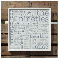 the nineties unframed recycled paper print | wood and willow