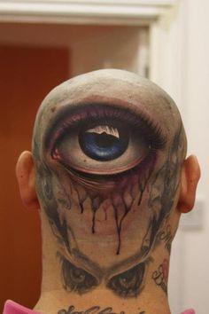 3d tattoo, third eye, john anderton, eye tattoo, tattoos, art, happy halloween, ink, eyes
