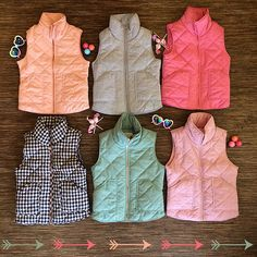 Perfect vests to tak