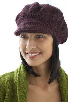 Crocheted newsboy cap--free pattern.