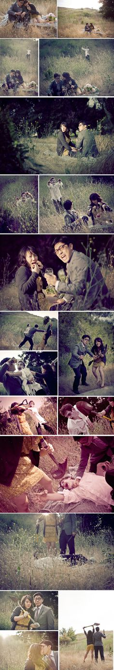 couple photos with zombie attack...hilarious!!