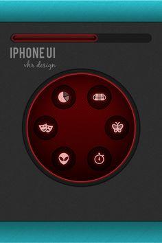 iPhone UI vhr designs by VHR Designs, via Behance