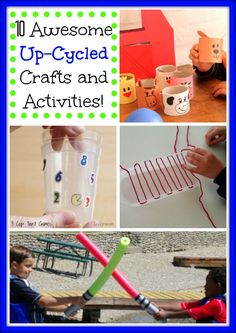 10 Totally Awesome Up-Cycle Crafts and Activities!