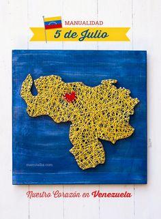Mami Talks™: Manualidad con el Mapa de Venezuela