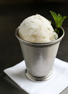 Sounds SO delish... Mint Julep Sorbet in honor of Derby Day:http://www.bonappetit.com/blogsandforums/blogs/badaily/2011/05/mint-julep-sorbet.html